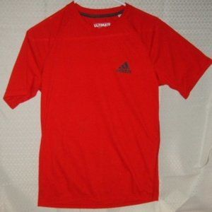Top Adidas Ultimate Tee S Red Short Sleeves Soft